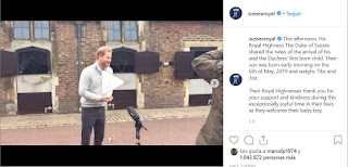 This afternoon, His Royal Highness The Duke of Sussex shared the news of the arrival of his and the Duchess' first born child. Their son was born early morning on the 6th of May, 2019 and weighs 7lbs and 3oz.  Their Royal Highnesses thank you for your support and kindness during this exceptionally joyful time in their lives as they welcome their baby boy.