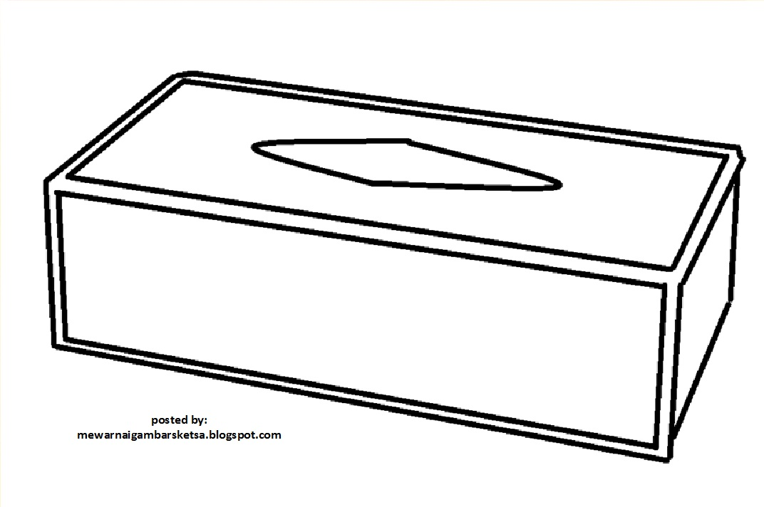 Mewarnai Gambar Mewarnai Gambar Sketsa Kotak Tissu 1