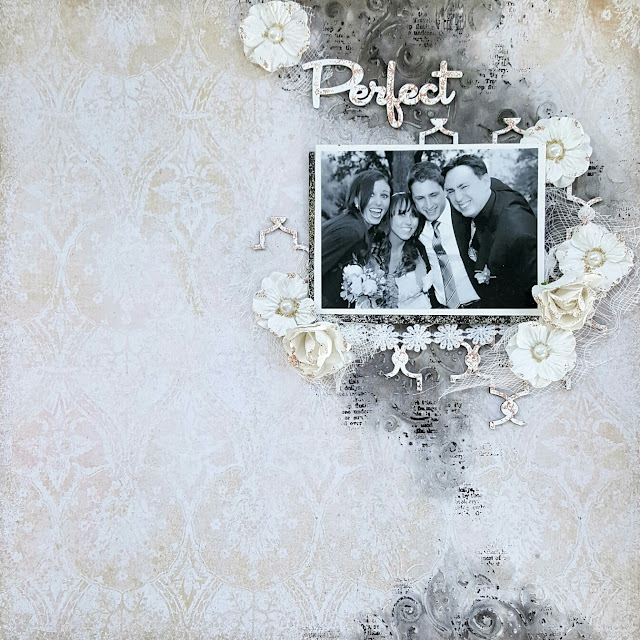 Blue Fern Studios Perfect Mixed Media Layout