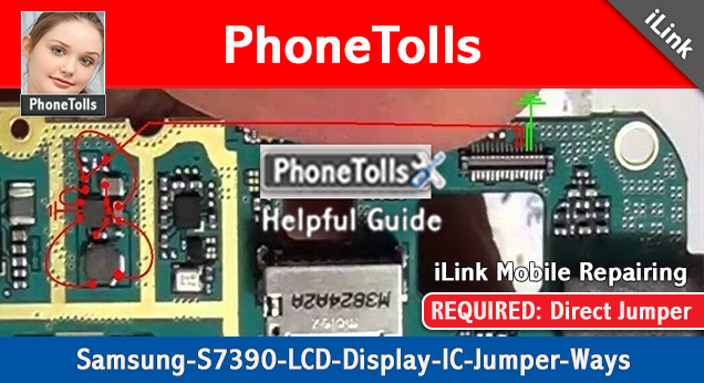 Samsung S7390 LCD Display Lights IC Jumper - Phonetolls