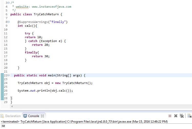 In java handling pdf exception