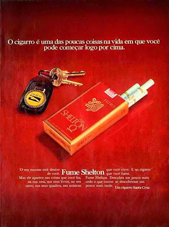 shelton.  propaganda anos 70; história decada de 70; reclame anos 70; propaganda cigarros anos 70; Brazil in the 70s; Oswaldo Hernandez;