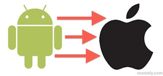 How to transfer information from Android to iPhone