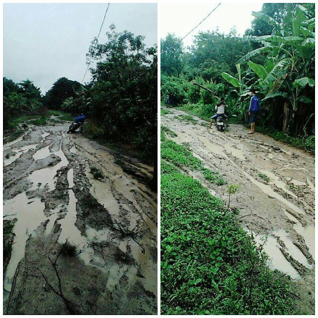 Hujan Deras Banyak Jalan Poros Rusak Parah