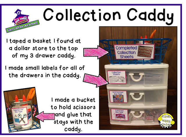 Box Tops Collection Caddy ~ Planet Happy Smiles
