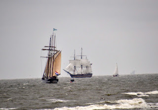 two tall ships under sail