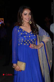 Telugu Actress Tejaswi Madivada Pos in Blue Long Dress at Nanna Nenu Na Boyfriends Audio Launch  0030.JPG