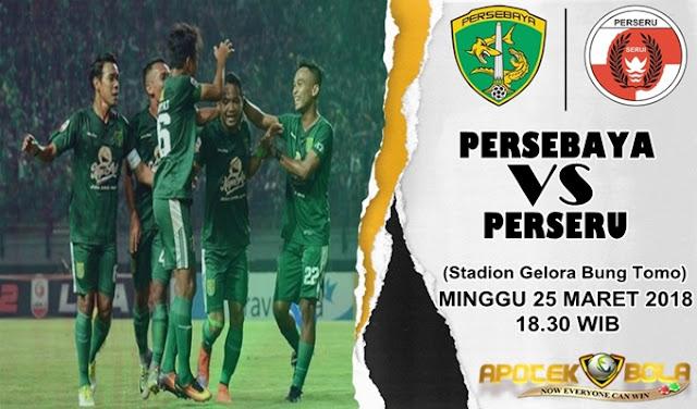 Prediksi Persebaya Surabaya vs Perseru Serui 25 Maret 2018