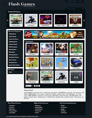 gameclub flash games wordpress theme