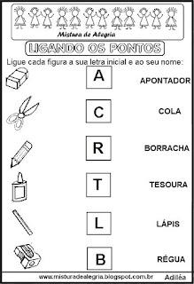 Ligar desenhos letras iniciais