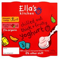 Ella's kitchen dairy range, Yoghurt, fruity yoghurt no sugar