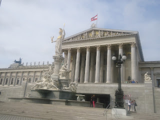 Austrian Parliament vienna outside