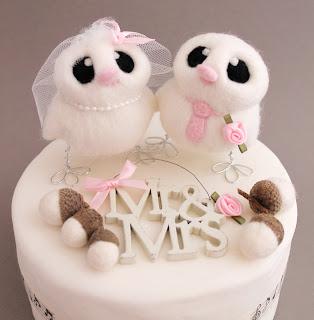 Best Mr and Mrs Bird Wedding Cake Topper