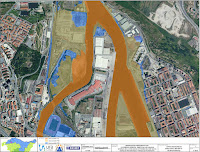 Mapa de riesgo de inundación. Fuente: agencia vasca del agua URA