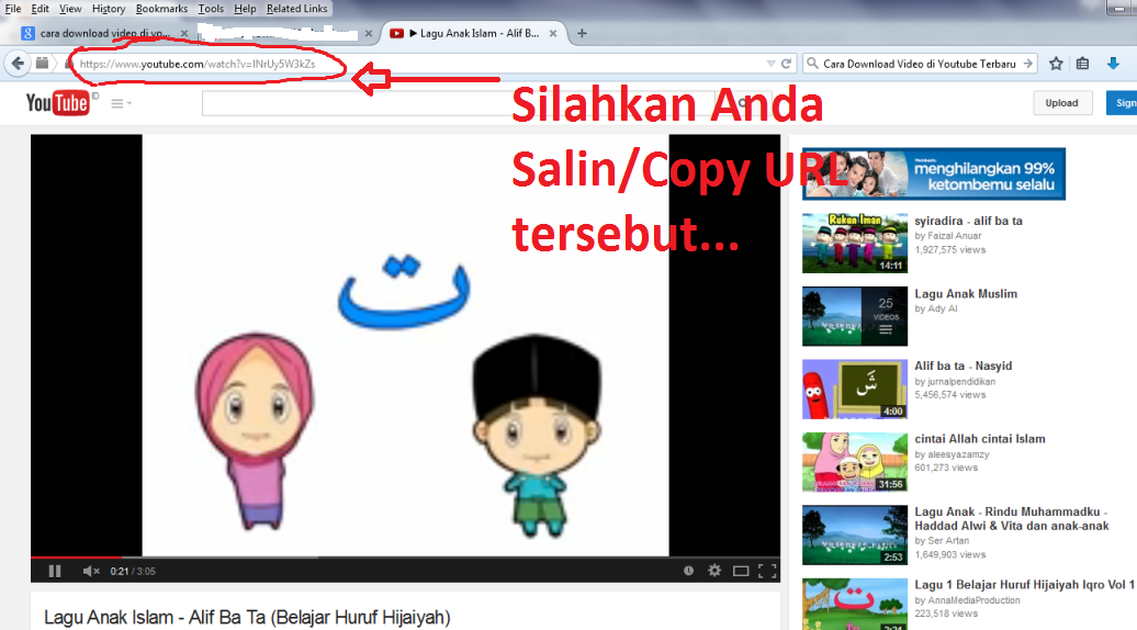Cara Download Video di Youtube Terbaru 2015