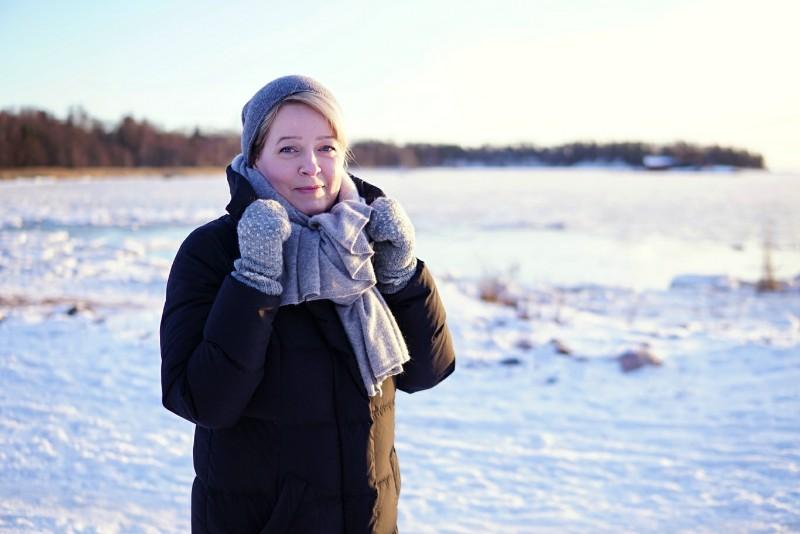 Talvi, Lauttasaari, tammikuu, pakkanen, talvivaatteet