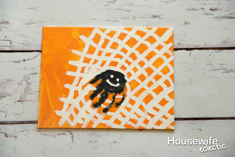 spider handprint to remember babyu0027s first halloween