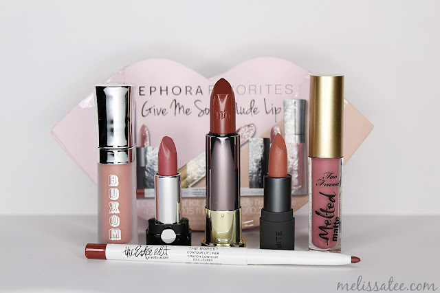 sephora favorites, sephora favorites give me some nude lip, sephora favorites give me some nude lip review, sephora favorites give me some nude lip 2017, buxom white russian, marc jacobs slow burn, urban decay 1993, bite beauty honeycomb, too faced queen b, the estee edit in the buff