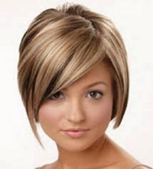 gaya rambut pendek untuk wajah bulat