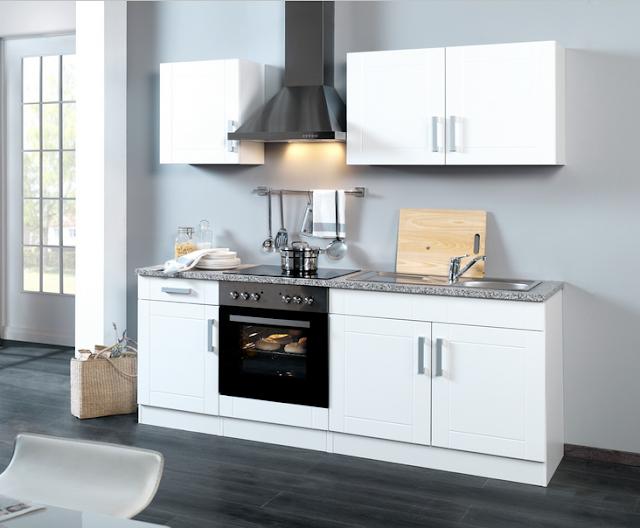 Küchenzeile 210 Cm Mit Elektrogeräten