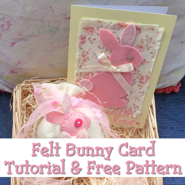 Free Bunny Template to Make an Easter Card: Perfect for Last Minute Makes Rabbit Spring Cute Felt No-Sew Tutorial