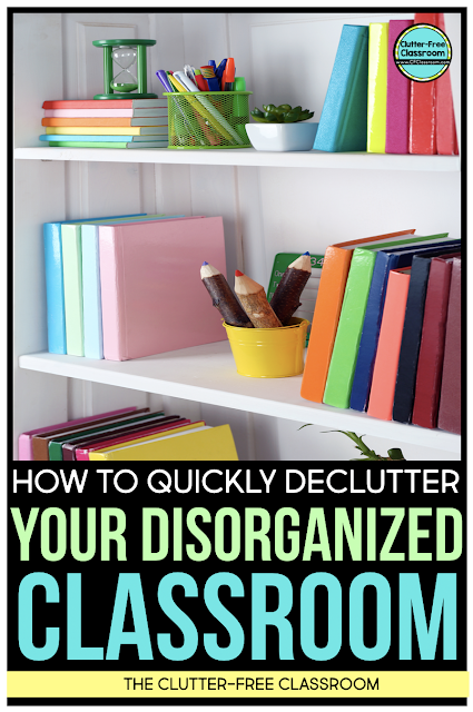 Declutter your classroom and simplify your life today using these simple organizing and decluttering strategies and ideas.