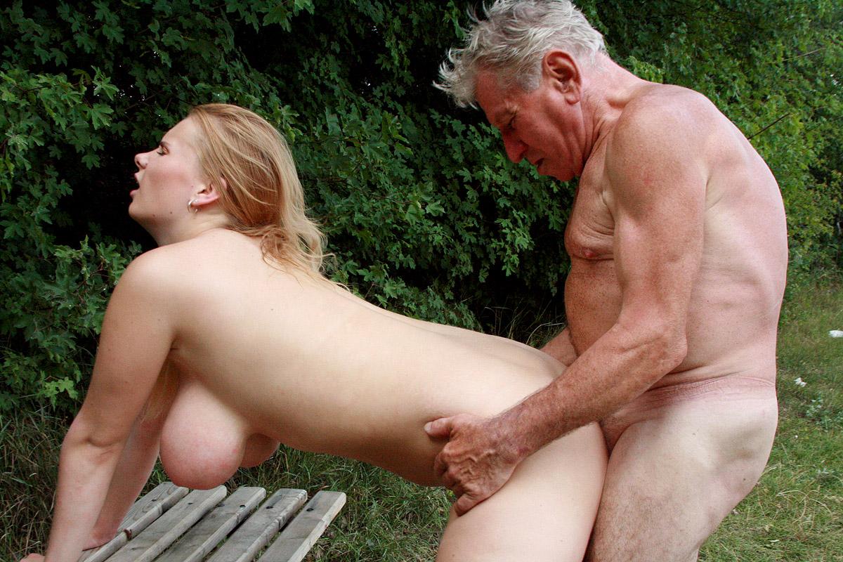 grandpa spying and senior Beauty