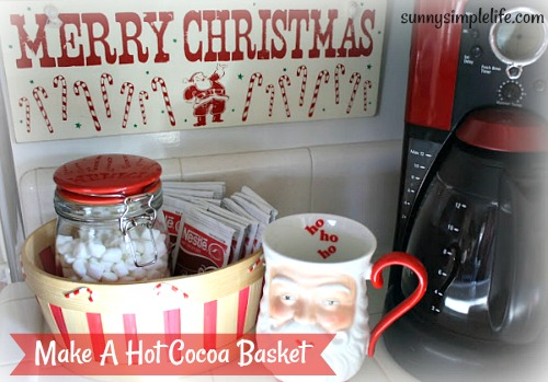 hot cocoa basket