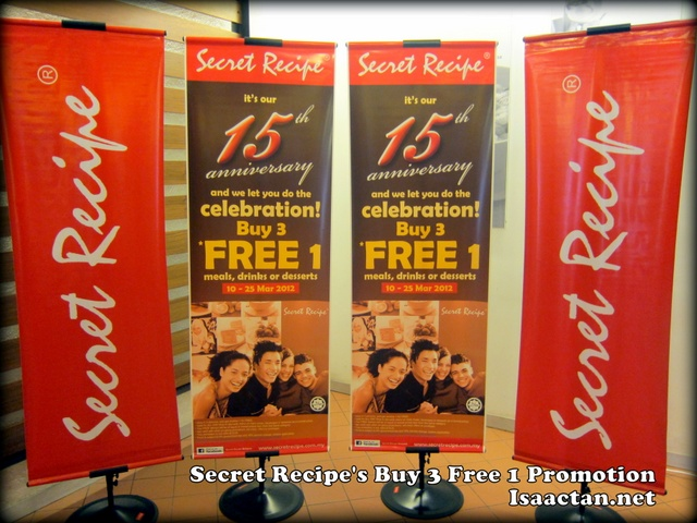 Secret Recipe Buy 3 Free 1 Promotion