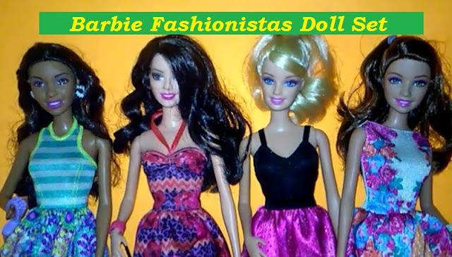 Barbie Fashionistas Doll (4 pack)