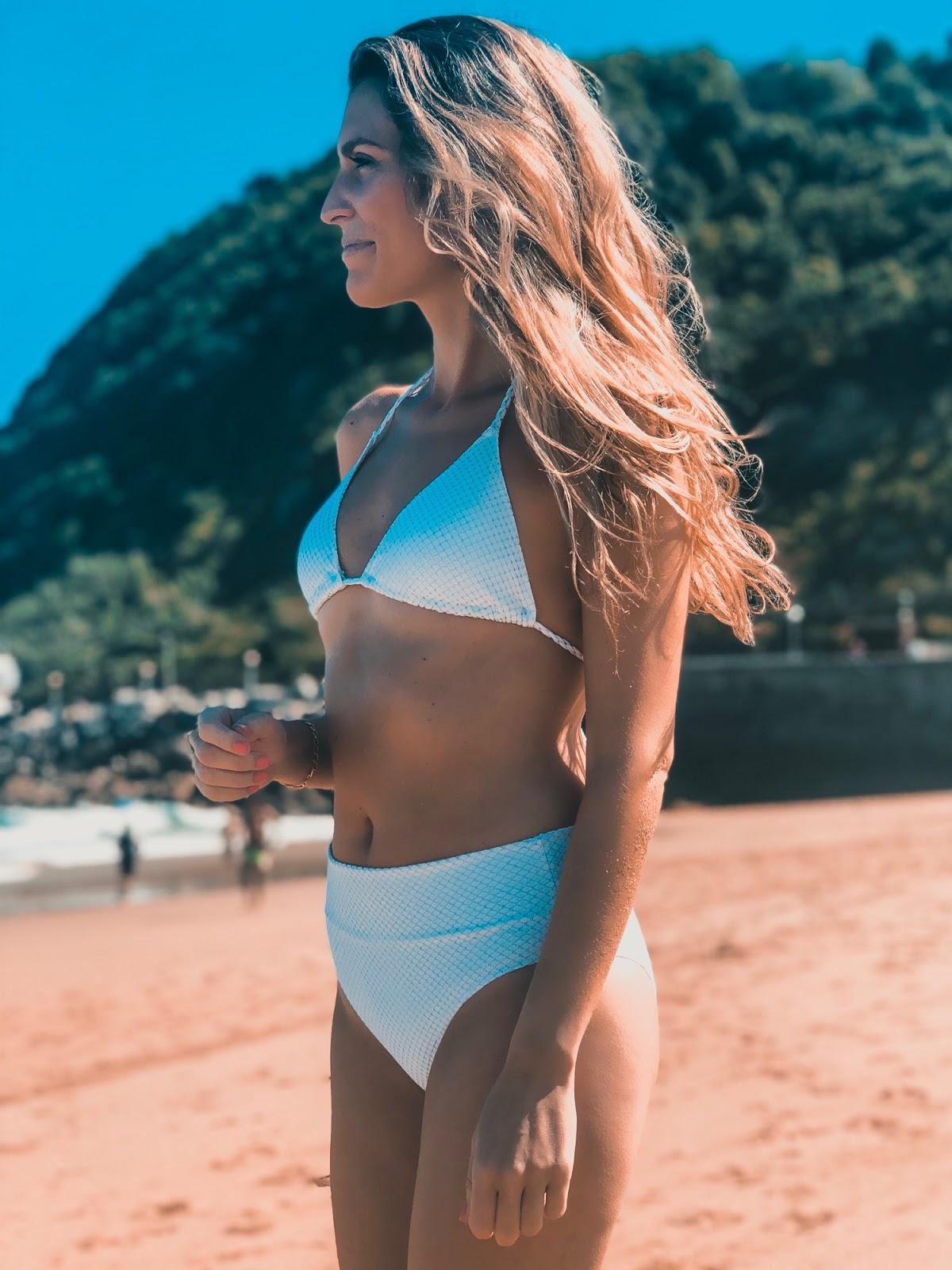 bikini blanco braga alta