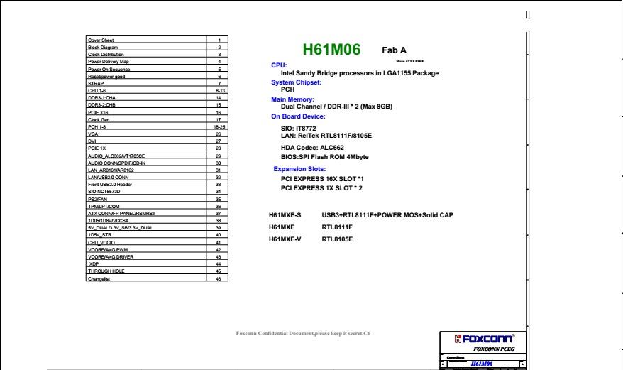 Schematic foxconn H61 MXE