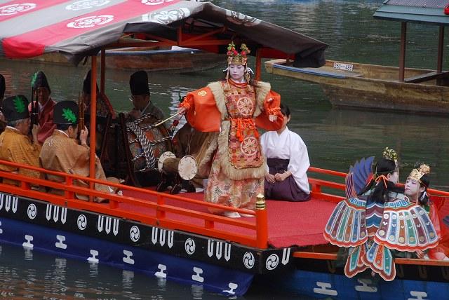 Mifune Matsuri (parade of ancient boats), Arashiyama, Kyoto