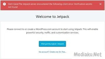 Jetpack Error Tidak Bisa Terhubung