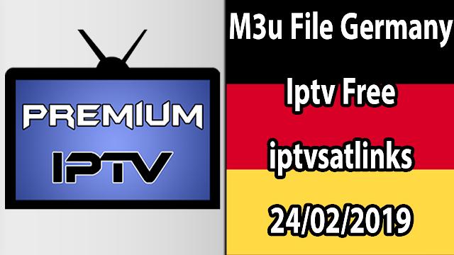 M3u File Germany Iptv Free iptvsatlinks 24/02/2019