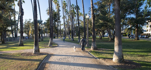 Vista do Parque Palisades Park em Santa Mônica