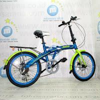Sepeda Lipat Exotic 20-2658-6D Rem Cakram 20 Inci