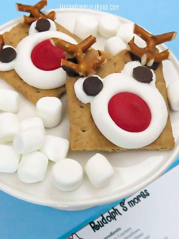 These Rudolph S'mores would be adorable for a Children's Christmas Cookie Exchange.