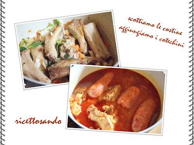 Polenta con sugo di spuntature e salsicce laziale ricetta tradizionale