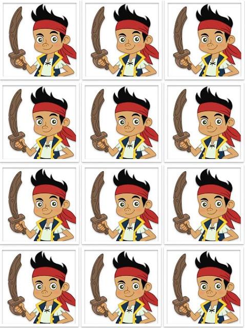 Etiquetas de Jake y los Piratas para imprimir gratis.