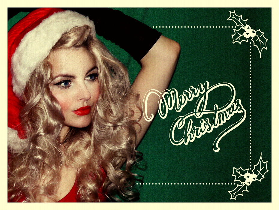 Retro Christmas, Christmas Pin Up, Vintage, Pin Up, Retro Christmas Postcard