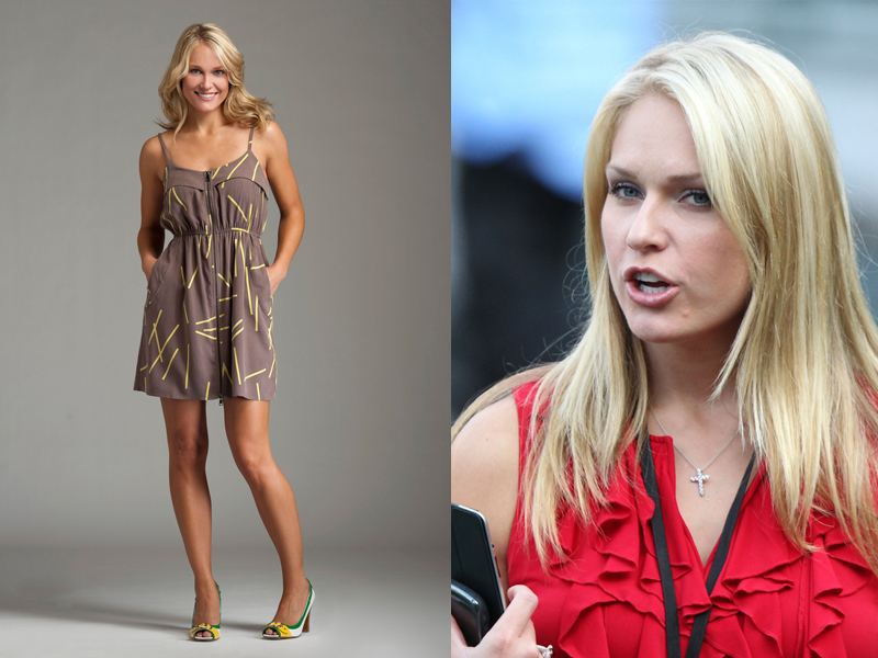 Pembawa Acara Seksi Heidi Watney sexy Pink Skin and perfect Body Shape
