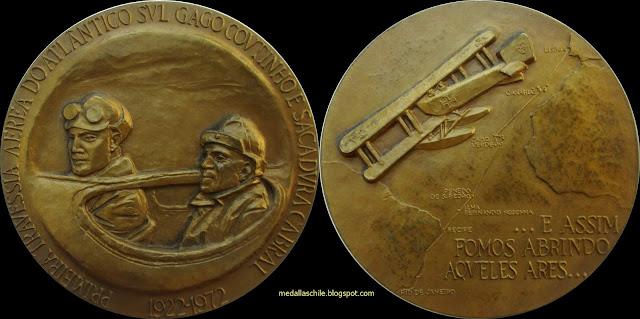 Medalla 50 años de la Primera Travesía Aérea del Atlántico Sur