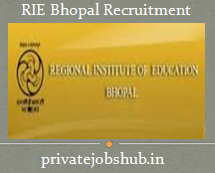 RIE Bhopal Recruitment