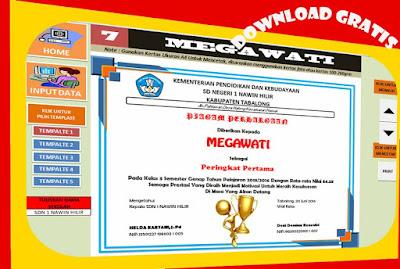 Aplikasi Piagam Juara Berbasis Excel Untuk SD/SMP/SMA Dan SMK