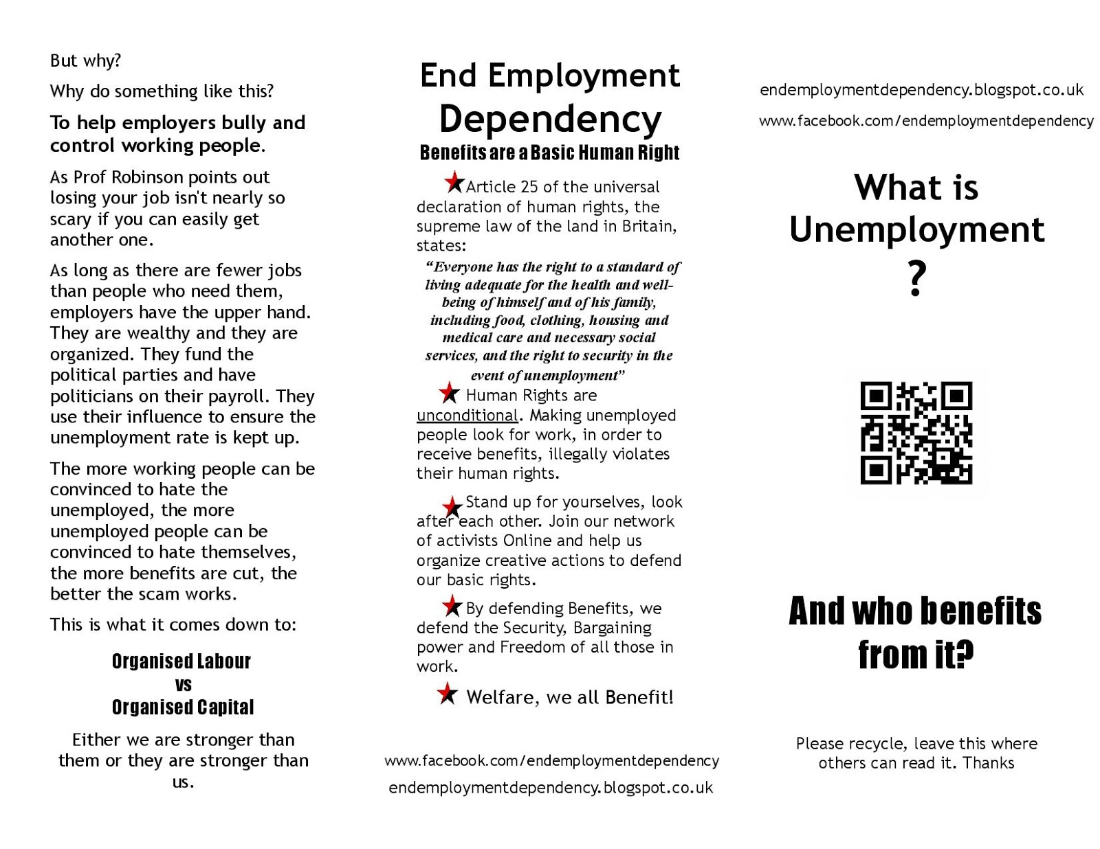 End Employment Dependency Pamphlet