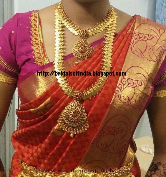 Bridal Diamond Necklace And Haram Set: Fashion World: Long And Short Kasumala Haram Set
