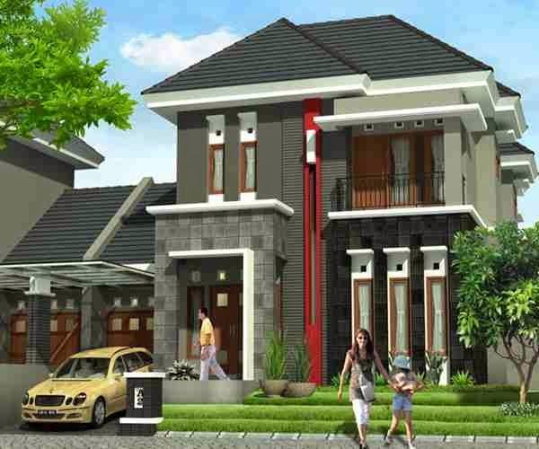 12 Desain Rumah Minimalis Modern 2 Lantai Mewah: Gambar Desain Rumah Tingkat Minimalis 2 Lantai Mewah Dan