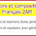 Devoirs et compositions Français 2AM