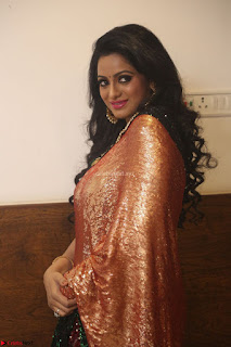 Udaya Bhanu lookssizzling in a Saree Choli at Gautam Nanda music launchi ~ Exclusive Celebrities Galleries 129.JPG